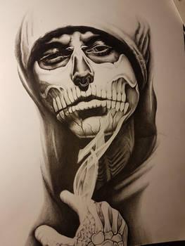 Rick Genest - Pencil Drawing