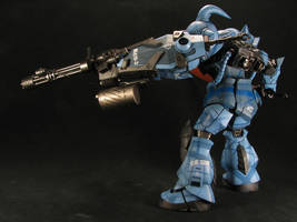 1_100 Gouf Custom side view by GameraBaenre