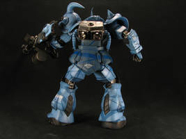 1_100 Gouf Custom back view by GameraBaenre