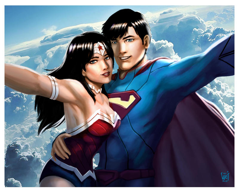 clark and diana by DavidKoo