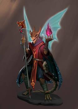 Medrash the dragonborn warlock