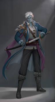 Blue Jay the Air Genasi pirate