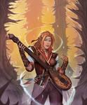 Tiriana the elven bard