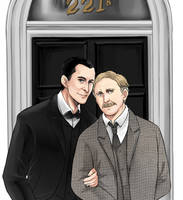 Holmes and Watson by vivzer