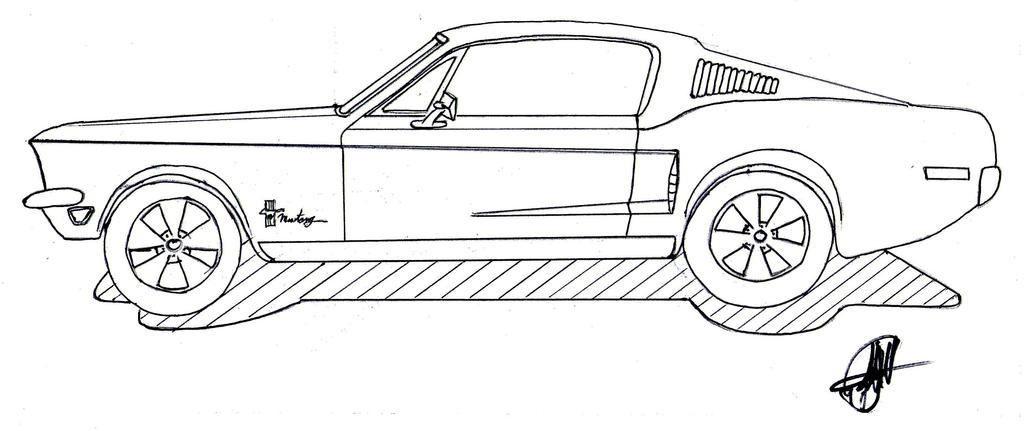 1968 fastback mustang by chutato on deviantart