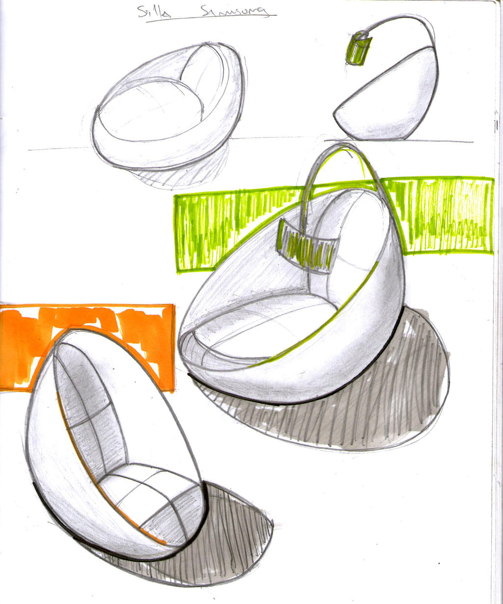 Capsule type chair sketch by chutato on deviantart for Industrial design chair