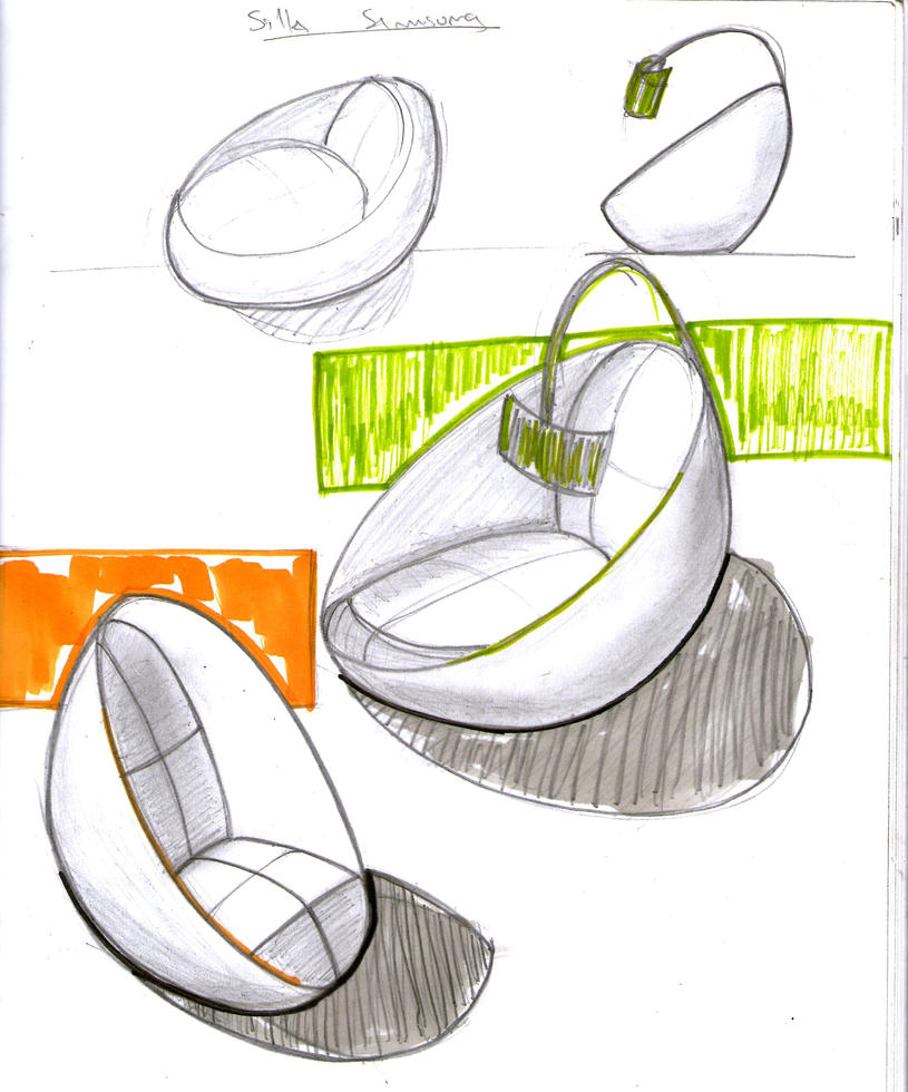 Capsule type chair sketch by chutato on deviantart for Industrial design sites