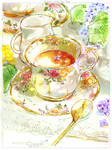 #daily_44 Lilac Tea Time