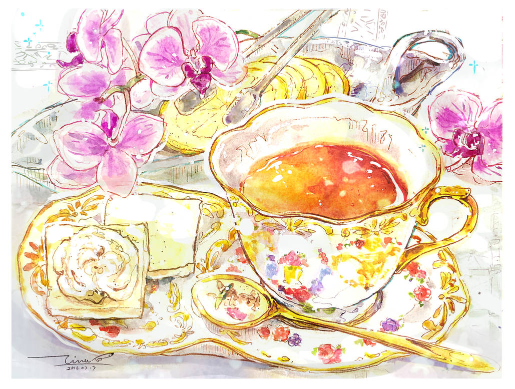 #daily097 moth orchids teatime by tinashan