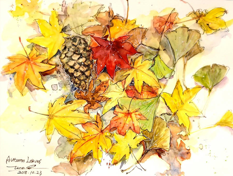Autumn Leaves by tinashan