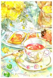 Afternoon tea -persimmon-