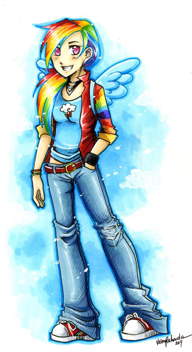 Rainbow Dash by Valen-LaRae