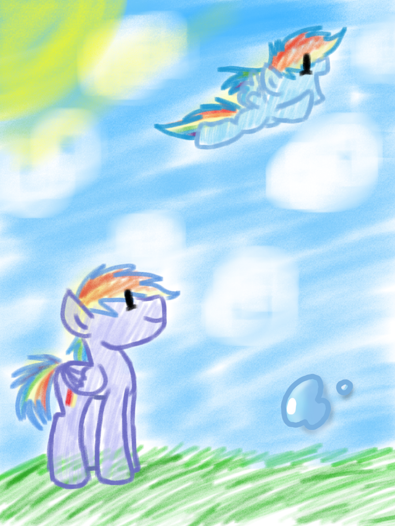 Look, Daddy, I'm Flying! by ChaoticDiscord