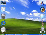 Desktop with icons on a 128res