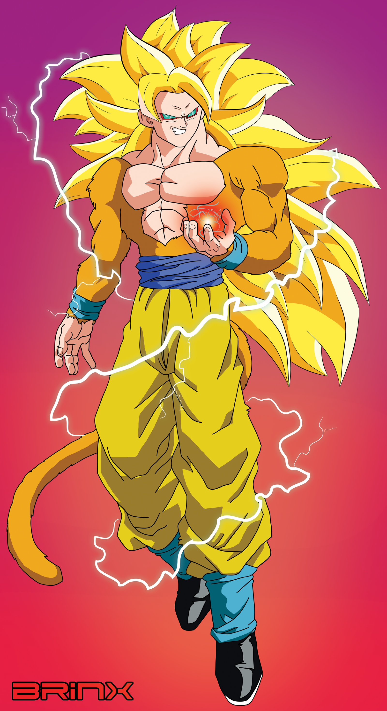 Hitozaru (SSJ 4) in SSJ 3 form by Brinx-dragonball