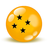 Black Star Dragonball fan button by Brinx-dragonball