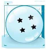 SQ Crystal Black Star Dragonballs Fan Button by Brinx-dragonball