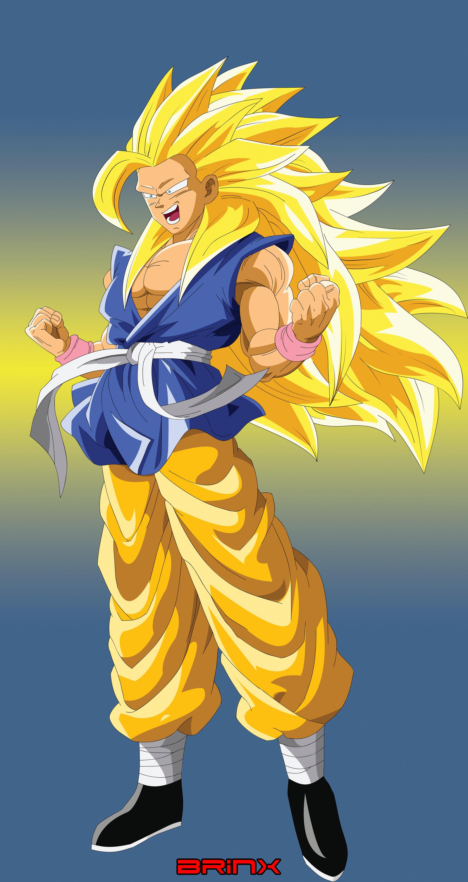 Goku True SSJ 4 form by Brinx-dragonball