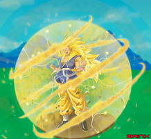 True SSJ4 Transforming (no tail) by Brinx-dragonball
