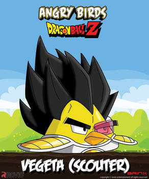 Vegeta (scouter)-Angry birds crossover
