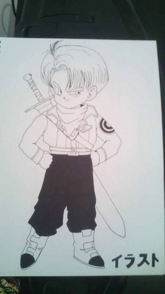 Kid Trunks in Future Trunks clothes
