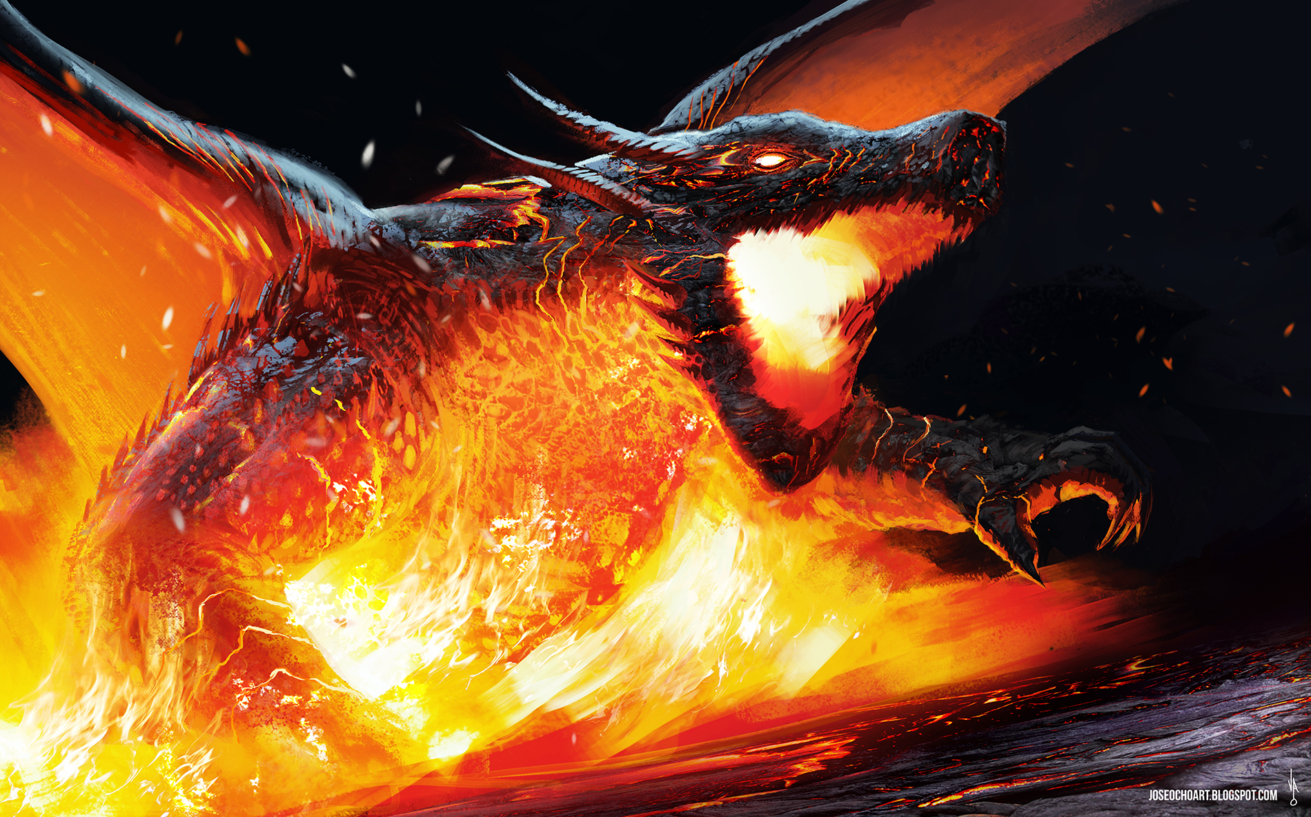 dragon by josea302 digital art drawings paintings fantasy # dragon ... Dragon