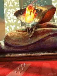 Cobra god by JoseOchoaArt