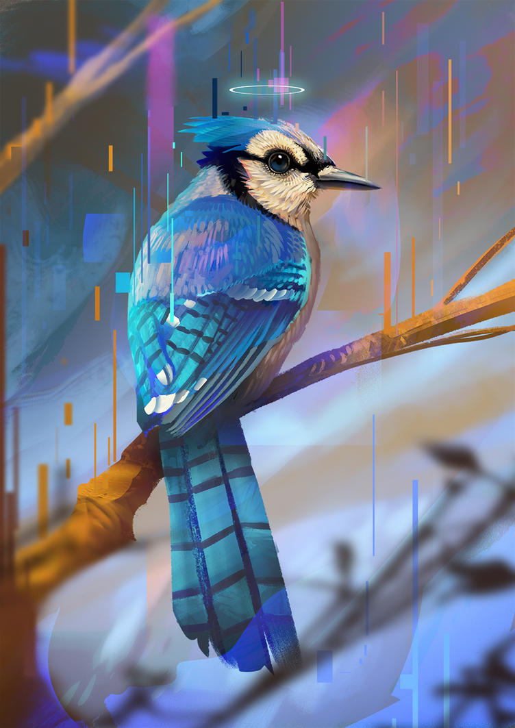Blue Jay by JoseOchoaArt
