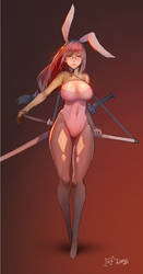 Bunny blade by kaitsuart