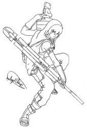 Tenshi: Battle Ready - Inked by MaverickTears