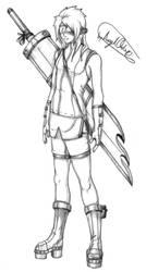 Art Trade: Ninja Girl - Shaded by MaverickTears