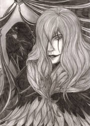 The Crow Guardian Of Death by DuskWingArts