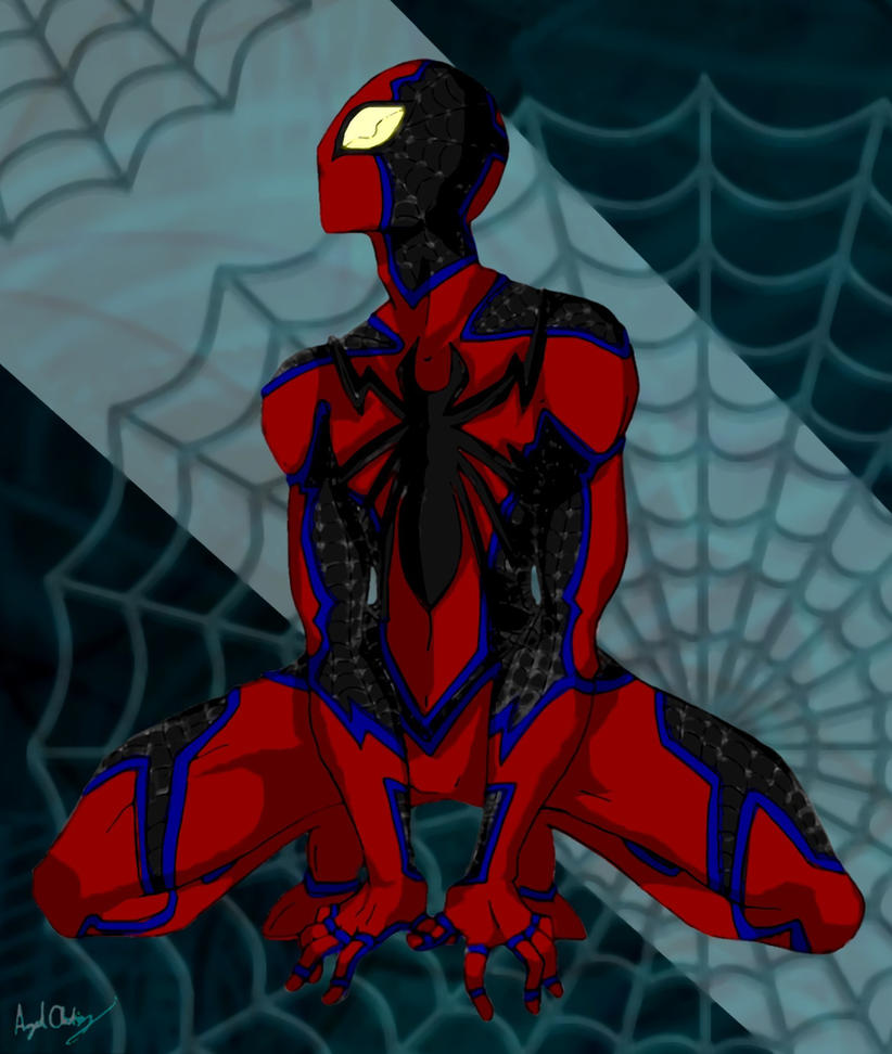 Perching Spider - Spider-Man by MaverickTears