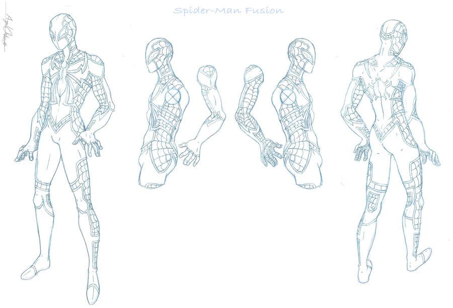 Spider Man Fusion Re Sketch By Mavericktears On Deviantart