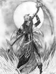 Samhain the Spirit of All Hallows Eve - Pencil by MaverickTears