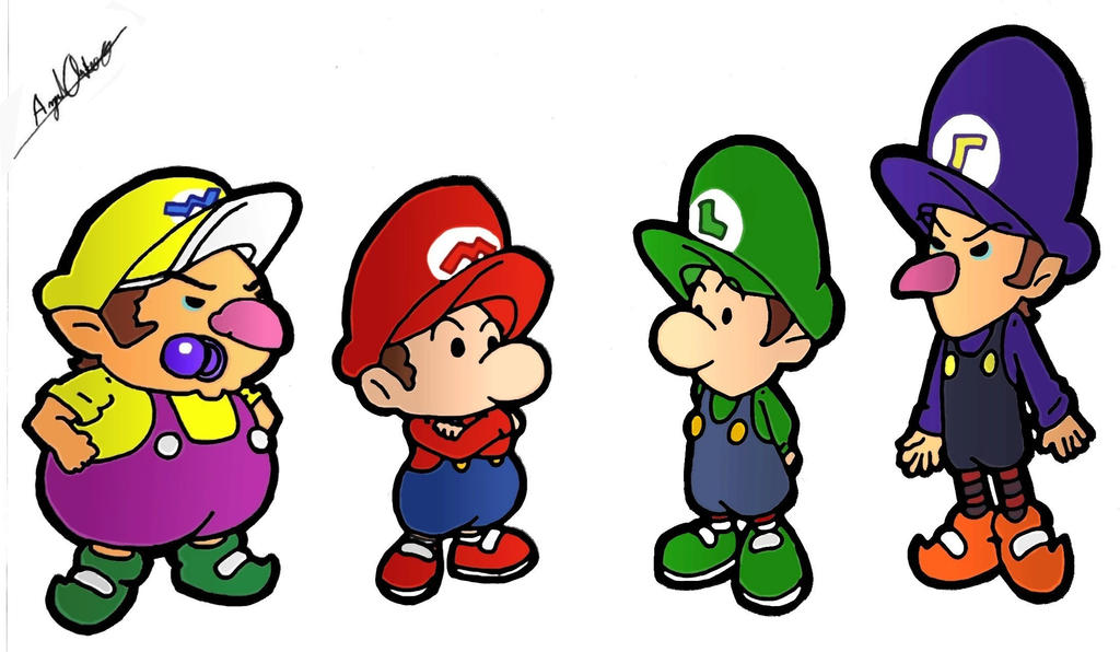 baby mario brothers by mavericktears on deviantart