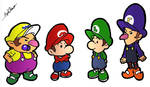Baby Mario Brothers by MaverickTears