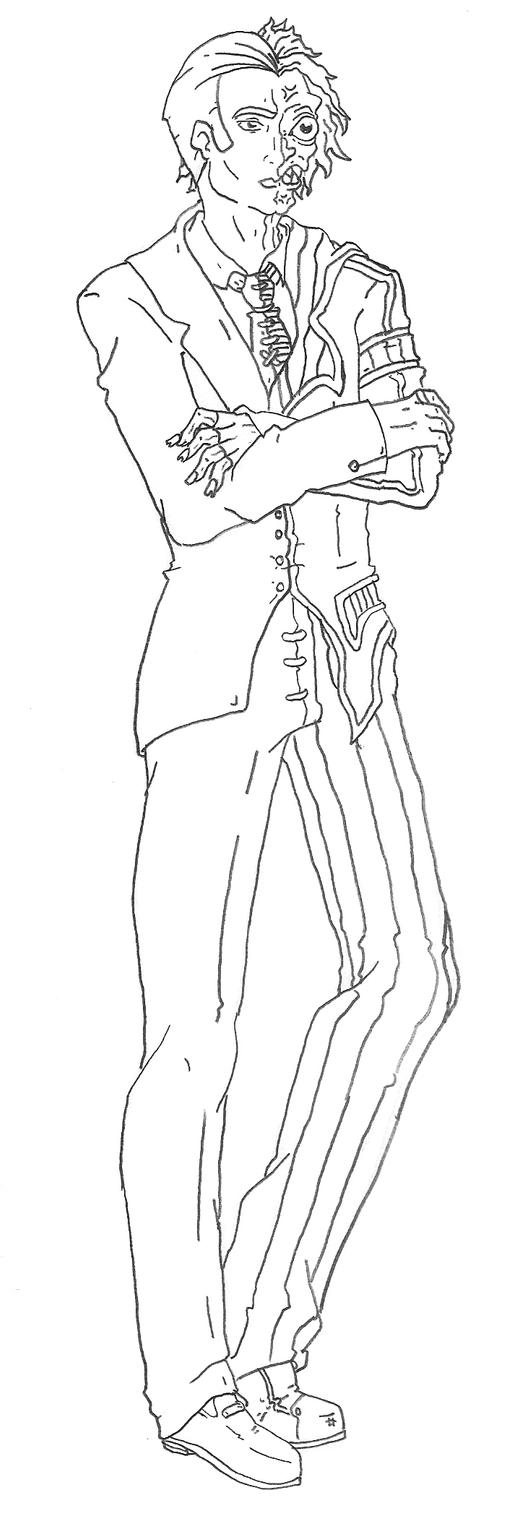Batman Two Face Coloring Pages Sketch Coloring Page