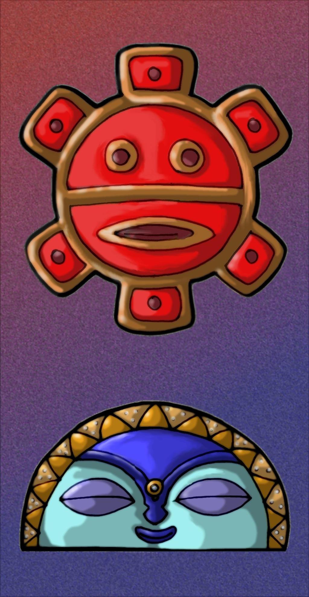 Taino Sun And Moon Symbols By Mavericktears On Deviantart