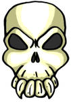 Angry Skull by MaverickTears