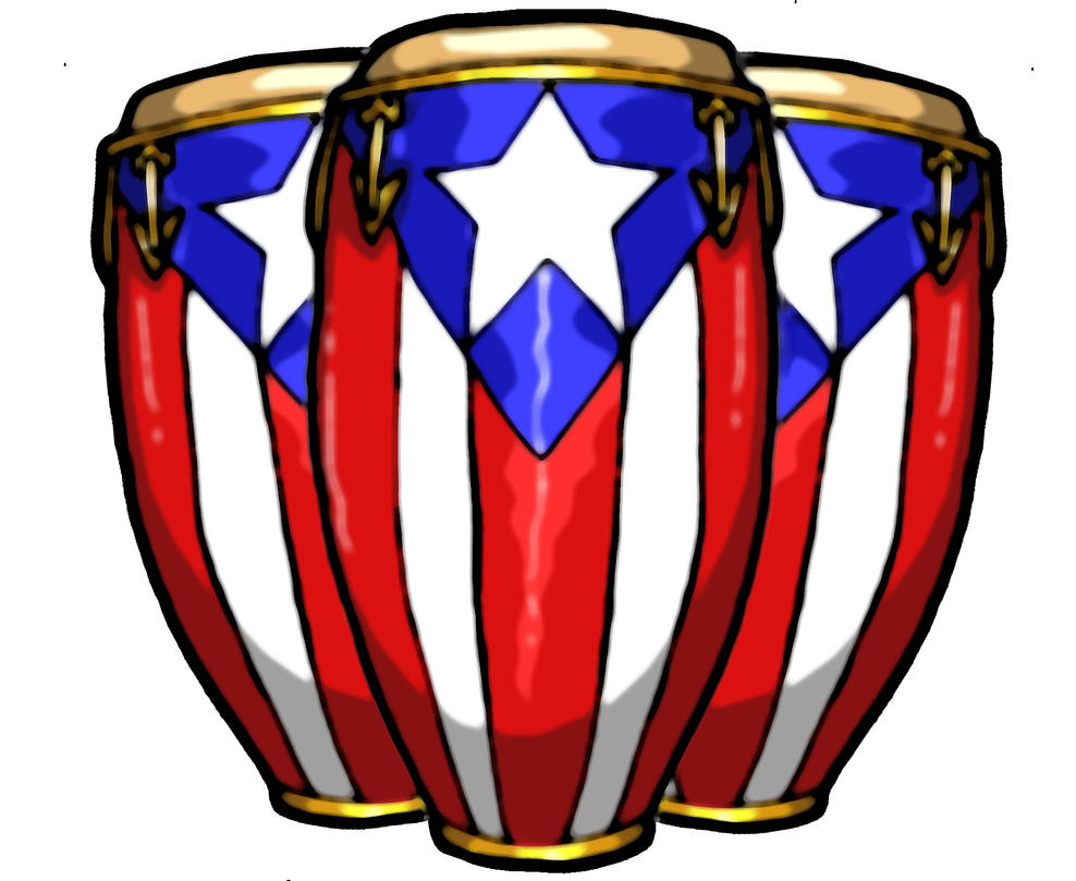 Three Peurto Rican Conga Drum By MaverickTears