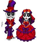 Dia Del Los Muertos Bride and Groom by MaverickTears