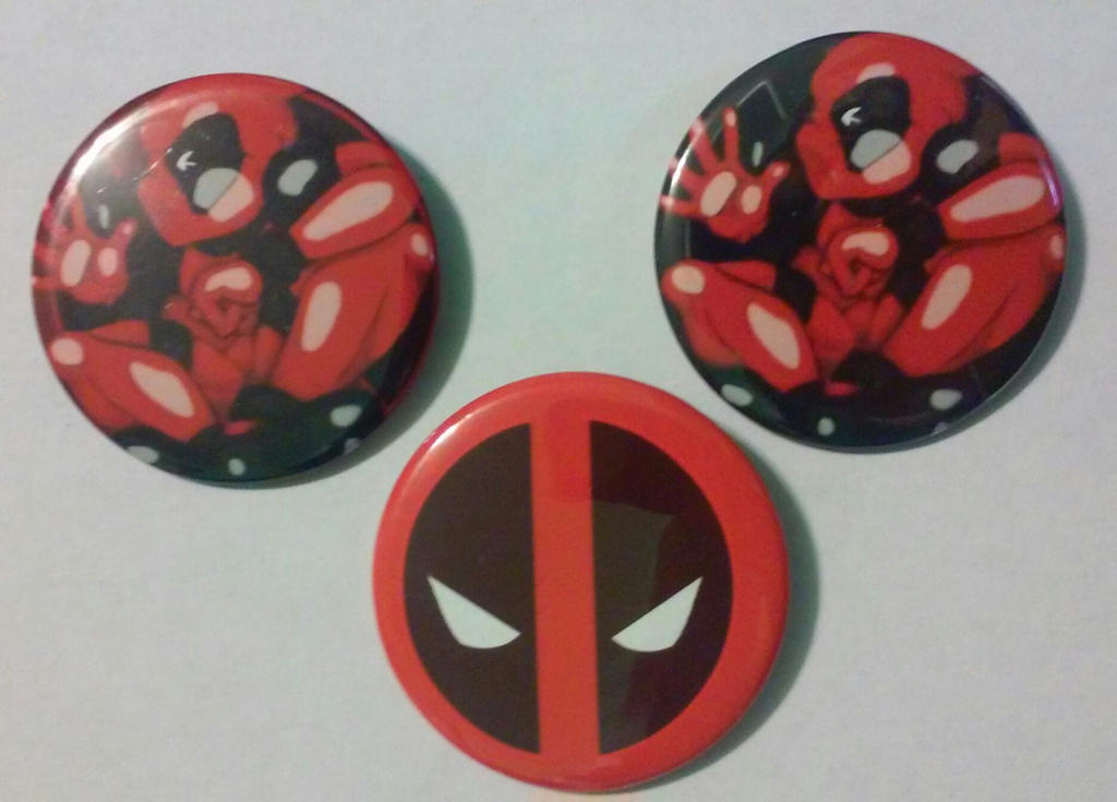Deadpool Set of 3 buttons, Pinback 2.25 inches by MaverickTears