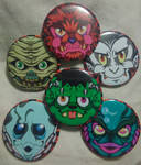 The Monster Mash: Halloween Heads by MaverickTears
