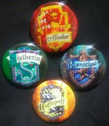 Hogwarts House Emblems by MaverickTears