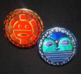 Taino - Sun and Moon by MaverickTears
