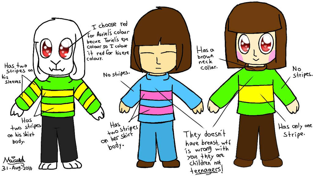 Undertale - Frisk and Chara | Press Any Button to Start ...