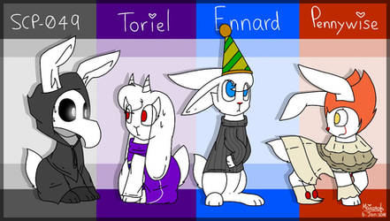 My favourite characters but they are bunnies by WaffleBunnyPie