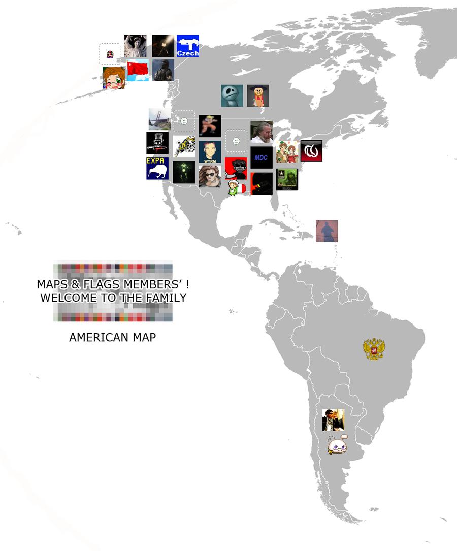Maps n Flags Members AMERICA by AY-Deezy