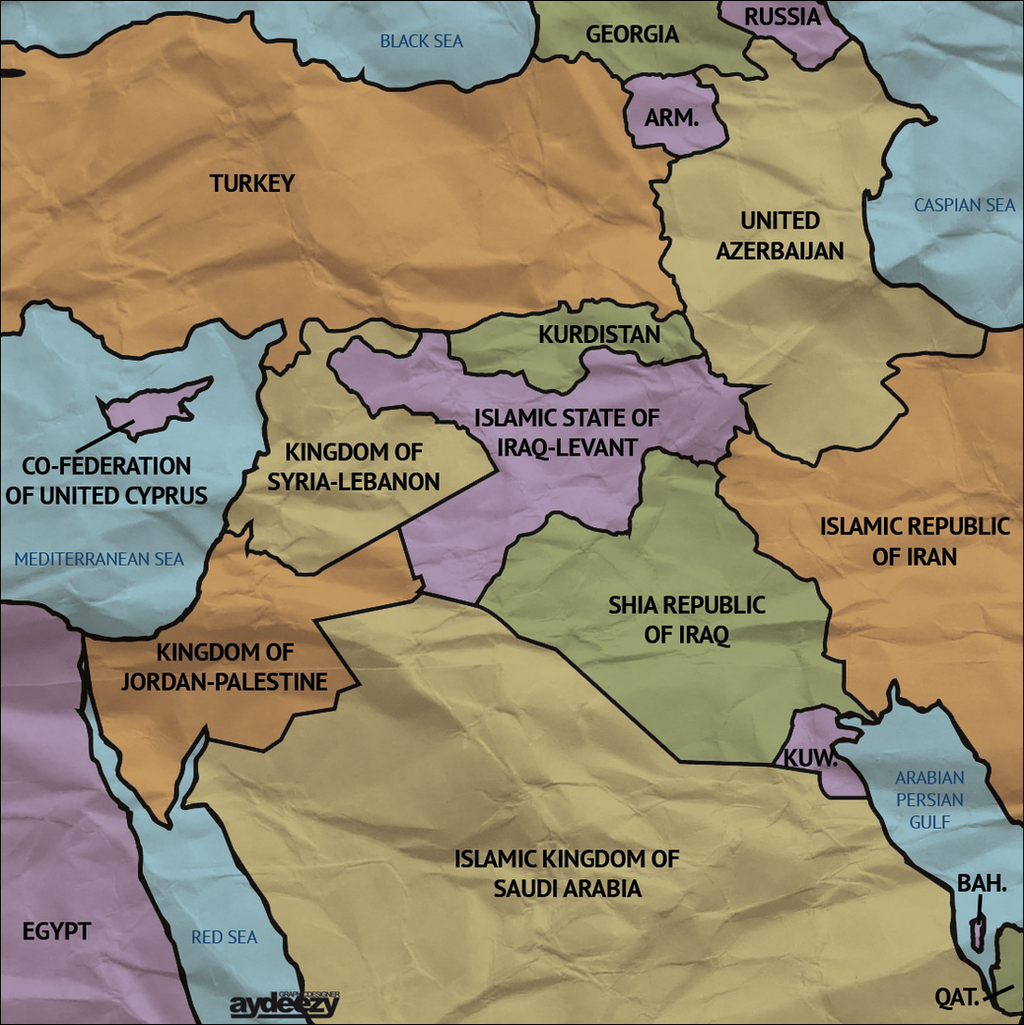 New Middle East Map by AY Deezy on